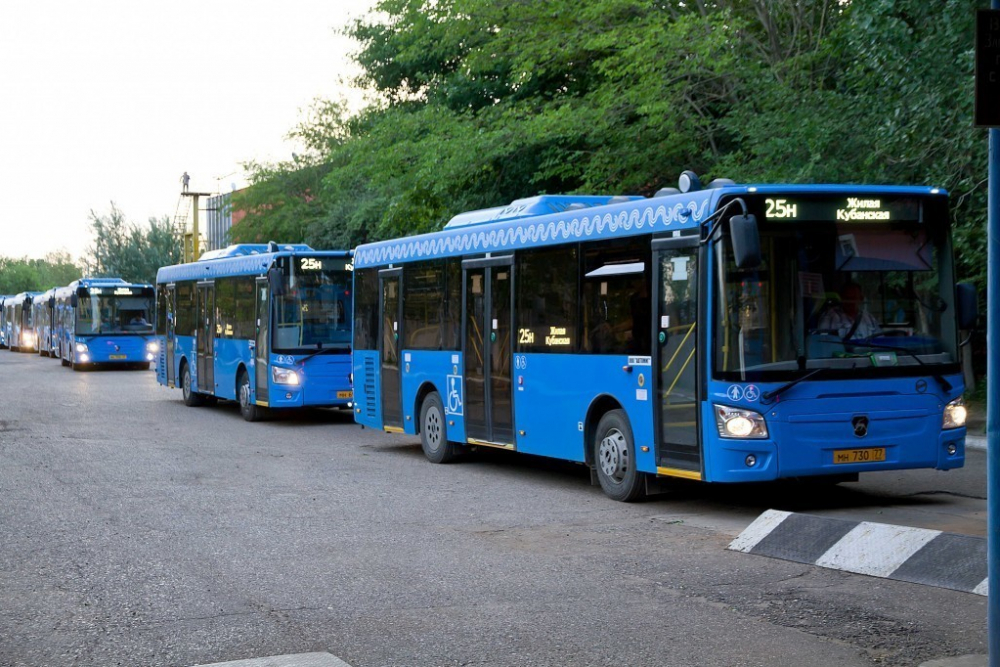 В Астрахань поступят еще 100 синих автобусов