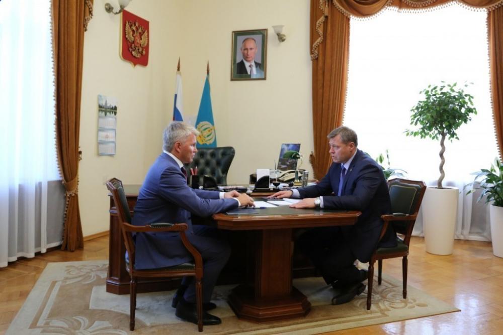 Астрахань с рабочим визитом посетил министр спорта России