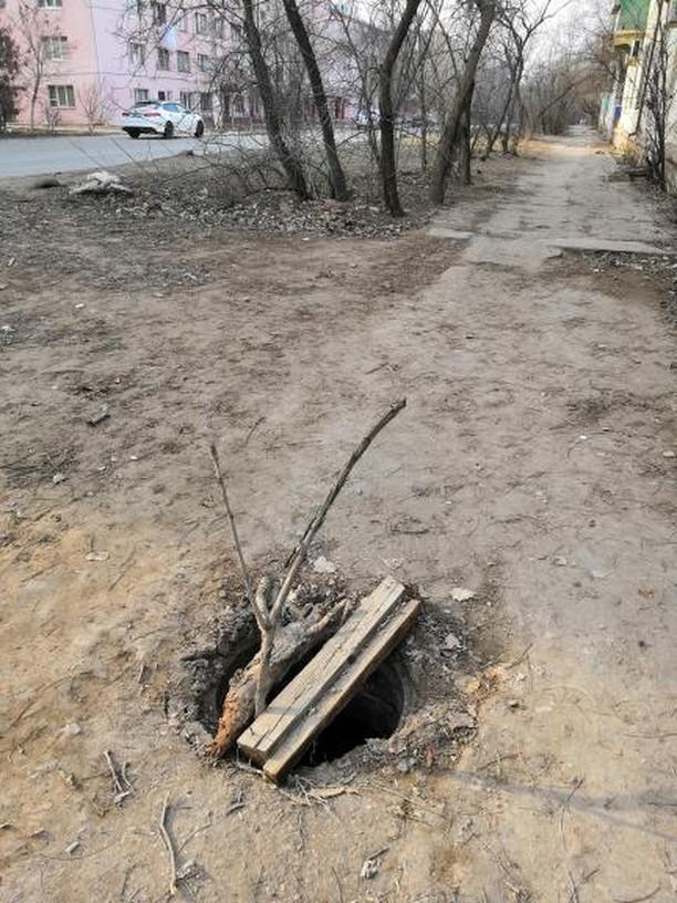 Фото дня: в Астрахани канализационные люки превращают в ловушки Вьетконга