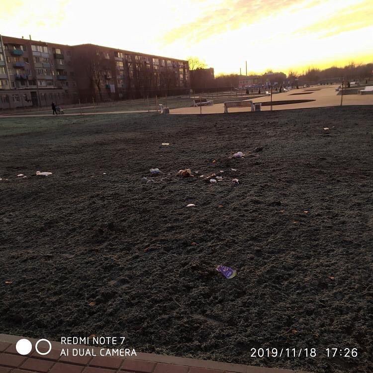 Астраханцы устроили свалку в новом парке